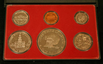 1975 Proof Set reverse