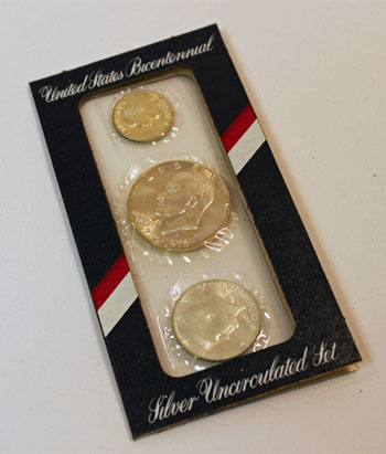 1976 3-Piece mint set obverse