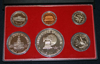 1976 Proof Set reverse