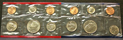 1984 Mint Set obverse coin images