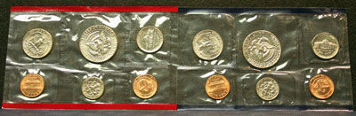 1984 Mint Set reverse coin images