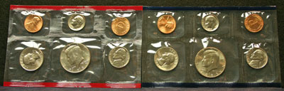 1985 Mint Set obverse coin images
