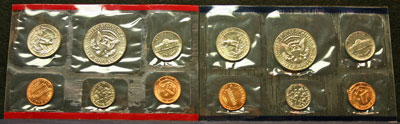 1985 Mint Set reverse coin images