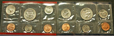1986 Mint Set reverse coin images