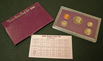 1986 Proof Set contents
