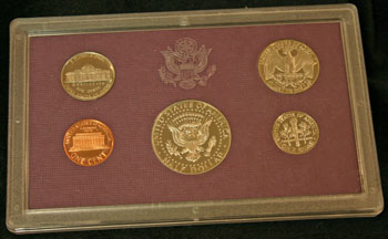1986 Proof Set reverse