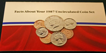 1987 Mint Set front of insert