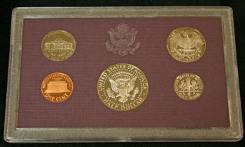 1987 Proof Set reverse