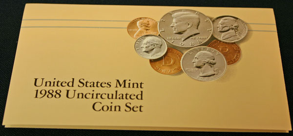 1988 Mint Set front of insert large view