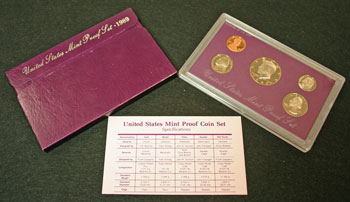 1989 Proof Set contents