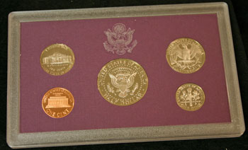 1989 Proof Set reverse