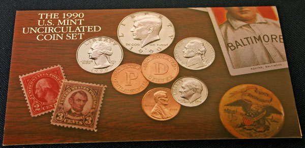 1990 Mint Set front of insert large view