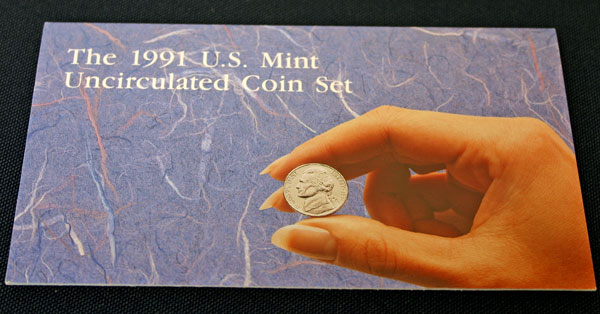 1991 Mint Set front of insert large view