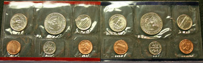 1991 Mint Set reverse images of coins