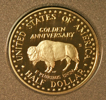 1991 Prestige Set commemorative half dollar reverse
