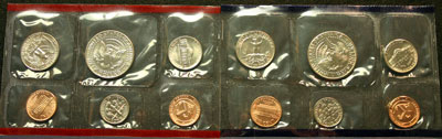 1992 Mint Set reverse images of coins