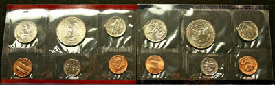 1993 Mint Set reverse images of coins