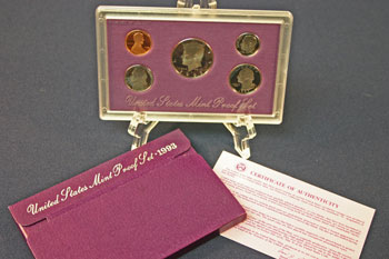 1993 Proof Set package