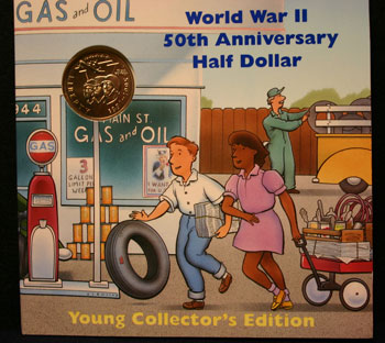 Young Collectors Edition Coin Sets 1994 World War II coin package obverse