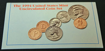 1994 Mint Set front of insert