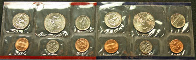 1994 Mint Set reverse images of coins