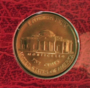 1994 Thomas Jefferson nickel reverse