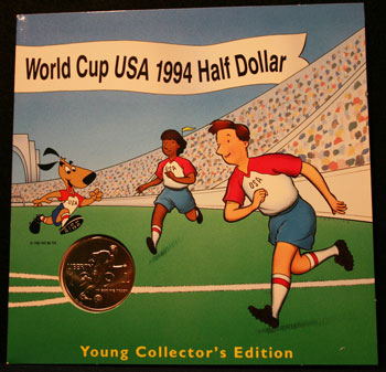 Young Collectors Edition Coin Sets 1994 World Cup Soccer clad coin front package
