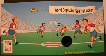 Young Collectors Edition Coin Sets 1994 World Cup Soccer clad coin package soccer game