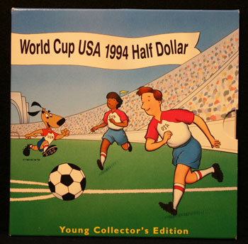 Young Collectors Edition Coin Sets 1994 World Cup Soccer clad coin package front
