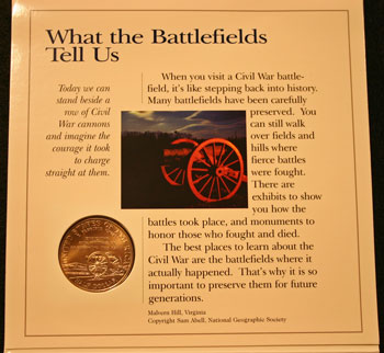 Young Collectors Edition Coin Sets 1995 Civil War Battlefield coin package contents 4