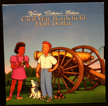 Young Collectors Edition Coin Sets 1995 Civil War Battlefield package front