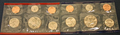 1995 Mint Set obverse images of coins