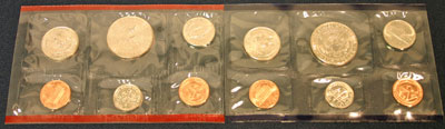 1995 Mint Set reverse images of coins