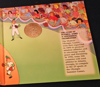 Young Collectors Edition Coin Sets 1996 Atlanta Olympics Baseball coin package contents 4