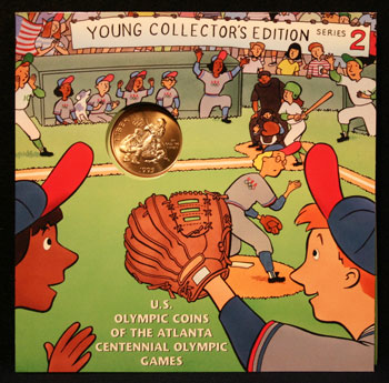 Young Collectors Edition Coin Sets 1996 Atlanta Olympics Baseball coin package front
