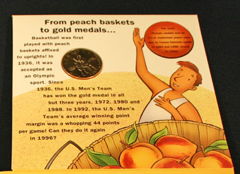 Young Collectors Edition Coin Sets 1996 Atlanta Olympics Basketball coin package contents 4