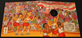Young Collectors Edition Coin Sets 1996 Atlanta Olympics Basketball coin package cover art