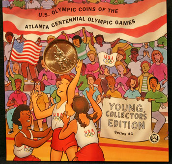 Young Collectors Edition Coin Sets 1996 Atlanta Olympics Basketball coin package front