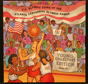 Young Collectors Edition Coin Sets 1996 Atlanta Olympics Basketball package front