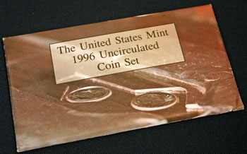 1996 Mint Set package of coins
