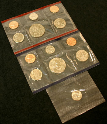 1996 Mint Set reverse images of coins
