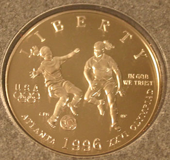 1996 Prestige Set commemorative half dollar obverse