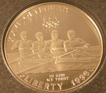 1996 Prestige Set commemorative dollar obverse