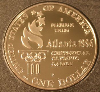 1996 Prestige Set commemorative dollar reverse