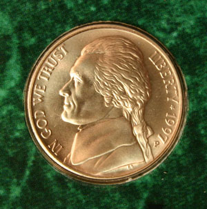 1997 Jefferson Nickel obverse