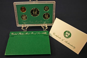 1997 Proof Set package