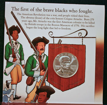 Young Collectors Coin Sets 1998 Black Patriots coin package contents 4