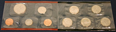 1999 Mint Set denver reverse images of uncirculated coins