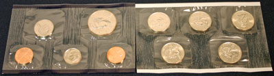 1999 Mint Set philadelphia obverse images of uncirculated coins