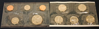 1999 Mint Set philadelphia reverse images of uncirculated coins